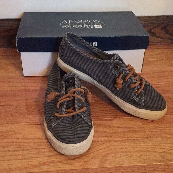 Seacoast Charcoal Striped Sneakers
